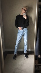 Alden Mueller - H&M Black Sweater - Grandpa Pants