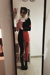 Saskia B. - H&M Cosplay Harley Quinn, Zaful High Heels - Happy Halloween Dr Harleen Quinzel.