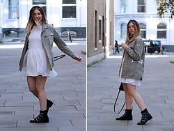 Amy Ramírez - Zaful Dress, Mango Jacket, Zara Boots - Autumn white