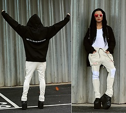 Milex X - Wink Wood Sunglasses, Who Loves Art Sweatshirt, Liu Sal Nyc Sweats - OUR MISTAKES