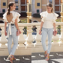 Heidi Landford - Lioness Top, Mimco Bag, Rollas Jeans, Wittner Shoes - Favourite White Top