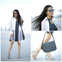 Kimberly Kong - Asos Mesh Top, Charming Charlie Dress - October Beauty Favorites...Better Late Than Never, Right?