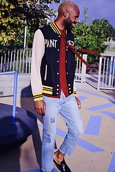 Derrick Smith - Gucci Shirt, Levi's® Denim, Gucci Slippers, Lucky Brand Bomber - Go panthers
