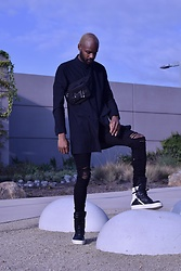 Derrick Smith - Rick Owens Shoes, Mike Amiri Denim, Helmut Lang Tunic - Moon landing