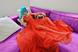 Stav Monskey - Maria Lucia Hohan Orange Dress - Pug life