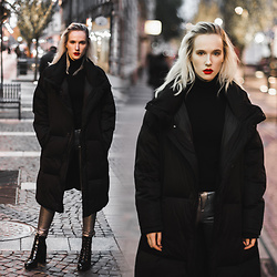 Anna Jaroszewska - Zara Coat, Mango Turtleneck, Forever 21 Shoes - MY BOYFRIEND'S COAT
