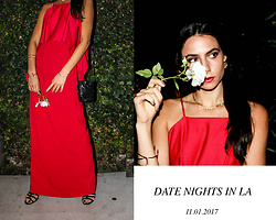 Amy Marietta - Trina Turk Dress, Chanel Earrings - An Elegant, Yet Spicy Date Night Outfit