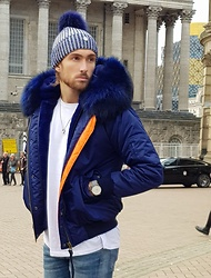 Henry & William Wade - Luxy London Bomber Jacket, Luxy London Beanie, Topman T Shirt, Hugo Boss Watch - Winter Warmer
