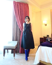 Fenny Yolanda - The Editor'S Market Long Dress, Mashizan Blue Boots - Autumn Ready