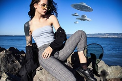 Wawa Baby - Brandy Melville Usa Trousers, Dr. Martens Shoes - Extraterrestrial