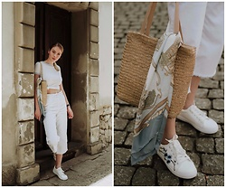 Iga Zubiel - Zara Pants, H&M T Shirt, Tk Maxx Shoes - White set