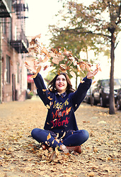 Carly Maddox - Tees And Tank You Work Work Work Navy Sweatshirt - Autumn is Always Fun When You've Got A Cozy Sweatshirt!