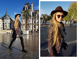 Ewa Michalik - Reserved Jacket, Mango Glasses, Reserved Jeans - Paris, Paris...