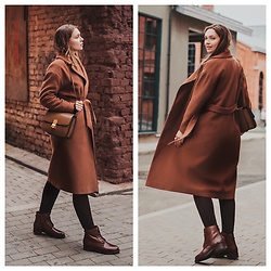 Alina Feminudity - Celine Box Bag - BROWN WOOL COAT