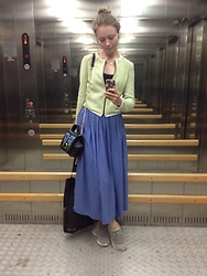 Lexa - Koton Skirt, Stradivarius Jacket, Koton Top, My Handmade Accessories, Reebok Sneakers - 97. Love