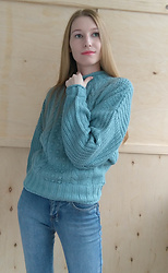 Roksa - Vipshop Sweater - Warm green sweater