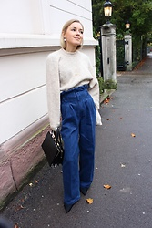 Anna Borisovna - H&M Sweater, H&M Jeans, Mango Shoes, Zara Bag - Paperbag jeans on www.annaborisovna.de
