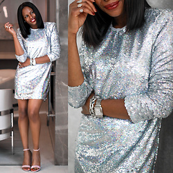 Monica Awe-Etuk -  - AWED BY MONICA:  HOW TO PULL OFF A SILVER SEQUIN DRESSE FOR