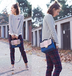 Iva K - H&M Top, Zara Pants - Stripes & plaid