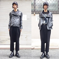 @KiD - (K)Ollaps 実験音楽 (Noise Music), Converge Jane Doe, Vintage Leather Jacket, Comme Des Garçons Penguin Pants, Dr. Martens 3 Hole Shoes, Love Jesse Design Ring - JapaneseTrash232
