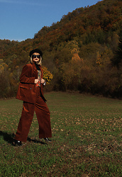 Ana Vukosavljevic - H&M Jacket, H&M Trousers, Pull & Bear Ankle Boots, Vintage Sunglasses, Vintage Turtleneck, Vintage Dress - Going Back To Basics