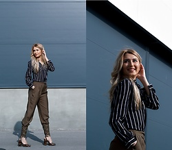 Sofija Surdilovic - Shein Tailored Cigarette Buckle Pants, Fashionmia Black Stripes Shirt, Asos Animal Print Heels - To these cigarettes I'm addicted!