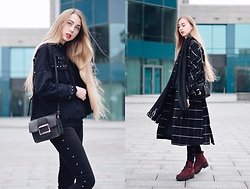 Lisa - Jacket, Bag, Coat, Zaful Scarf - Rivet jacket