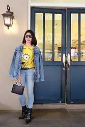 Cassey Cakes - Mango Denim Jacket, Mango Bag, Mango Ankle Boots, Mango Belt - Simpsons