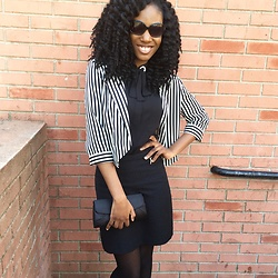 Ogadinma - H&M Black Blouse, H&M Black Skirt, Forever 21 Blazer - Black and White Classic
