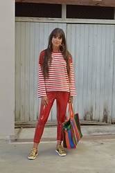 Jeanne -  - ♥ Stripes Vinyl Pants and Ace Glitter ♥