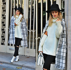 Ruxandra Ioana - Scrappy Koko Store Sweater, Chicwish Coat, Sterkowski Hat, Sacha Shoes Booties - Chic in the city
