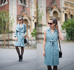 Miha Teicu - 2 In 1 Teal Trench Coat - Shiver