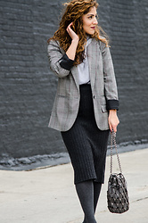 Christina N -  - Oversized Blazer With Hoodie