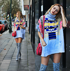 Ruxandra Ioana - Rosegal Poncho, Marc Jacobs Bag, Jeffrey Campbell Over The Knee Boots - Not feeling it