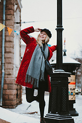 JANINA ERMOLAEVA -  - RED COAT AND WINTER TIPS