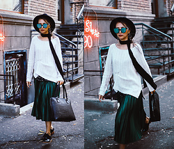 Queen Horsfall - Gap, Asos, Maxwell, Forever 21 F21, Similar, Queenhorsfall - Emerald Green