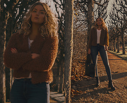 Elin Hansson - Gina Tricot Fluffy Jacket, Lee Jeans - To get to you