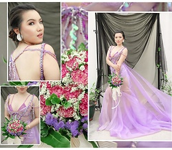 Phuong Do (PiDi) -  - *Purple Beach Wedding Gown / Made by Me*