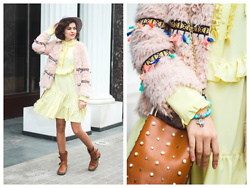 Katerina Lozovaya - Shein Coat, Zaful Bag, Gamiss Bracelet, Likemammy Dress - Japur River