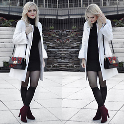 LOVERENCE Andrea Jelenská - Mango Bag, Ccc Shoes, Mango Coat - WHITE BLAIR COAT