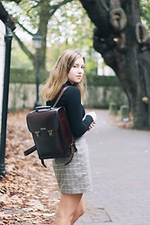 Emma Felin - Beara Bag, Topshop Turtleneck, New Look Skirt - Sancte et Sapienter