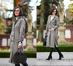 Daisyline . - Steve Madden Bag, Mnishka Coat, Zara Shoes - Checked coat / www.daisyline.pl