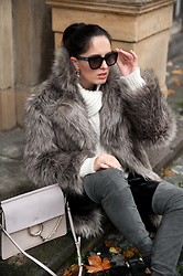 The Day Dreamings - Jimmy Choo Sunglasses, Zara Fake Fur Coat, Chloe Bag, Zara Boots, Zara Sweater, Chanel Earrings - Sunnies game