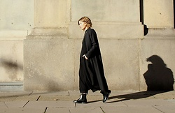 Angharad Jones - & Other Stories Coat, Cos Top, Cos Trousers, Dr Martens Boots - Dr Martens Chelsea Boots