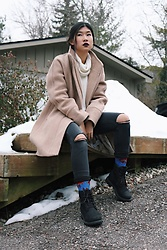Jenny Ruan - Timberland Boots, H&M Pants, J. Crew Coat, American Apparel Sweater - Last winter