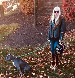 Shannon D - Vintage Jacket, Prada Boots, Lanvin Bag, Paige Denim - Thanksgiving Week