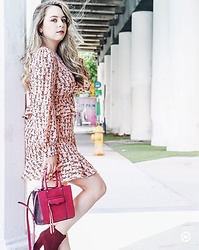 Ana Cristina Marino - Rebecca Minkoff Mini Satchel, Sfera Ruffle Dress, Shoedazzle Booties - Fall in Miami