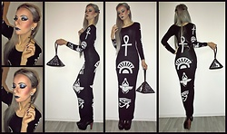 Lena Rawk - Killstar The Life L/S Maxi Dress - Sphinx