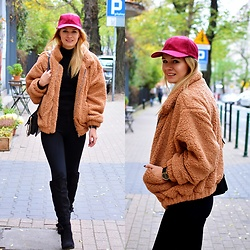 Kamila Libelula - Primark Cap, Lightinthebox Fur, Gino Rossi Watch, Renee Boots - Brown Fur