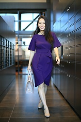 Kimberly Kong - Asos Purple Bow Dress - The Best of Fall:  Highlights from November